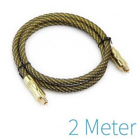 Oem - Optical Toslink cable gold plated - Audio cables - YAK030-CB