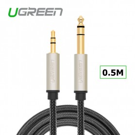 UGREEN - UGREEN 3.5mm Male naar 6.35mm Male Jack Audio Kabel - E14 LED - UG085-CB www.NedRo.nl