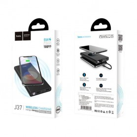 HOCO - HOCO Wireless Power Bank 10000mAh Wisdom J37 zwart - Powerbanks - H100233 www.NedRo.nl