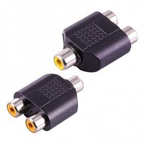 NedRo - RCA Female to 2x RCA Female RCA Splitter Converter - Audio adapters - AL324 www.NedRo.us