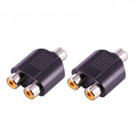 NedRo - RCA Female to 2x RCA Female RCA Splitter Converter - Audio adapters - AL324