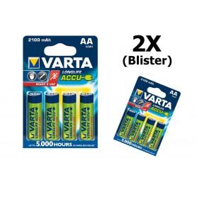 Varta - VARTA AA / Micro / HR06 2100mAh 1.2V Rechargeable Battery - Size AA - BS138-CB www.NedRo.us