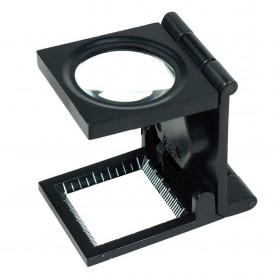 NedRo - 10x zoom opvouwbaar dradenteller loep met LED Licht - Loepen en Microscopen - TM2019 www.NedRo.nl