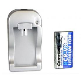 Camelion RCR-V3 EU Plug + Car charger including CR-V3 1300mAh 3V battery