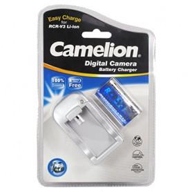 Camelion - Camelion RCR-V3 EU Plug + Car charger including CR-V3 1300mAh 3V battery - Battery chargers - RCR-V3