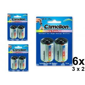 Camelion - Camelion AA R6 la D Mono R20 Adaptor din aluminiu - Accesorii pentru baterii - BS341-CB www.NedRo.ro