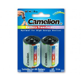 Camelion - Camelion AA R6 naar D Mono R20 Aluminium Adapter - Batterijen accessories - BS341-CB www.NedRo.nl