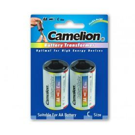 Camelion - Camelion AA R6 naar C Baby R14 Aluminium Adapter - Batterijen accessories - BS342-CB www.NedRo.nl