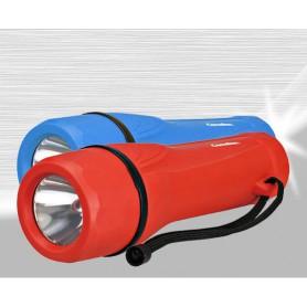 Camelion - Camelion rubber zaklamp inclusief 2x D R20 batterijen - Zaklampen - BS343-CB www.NedRo.nl
