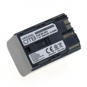 NedRo - Accu voor Canon BP-522 3200mAh 3.7V Li-Ion - Canon foto-video batterijen - ON6275 www.NedRo.nl