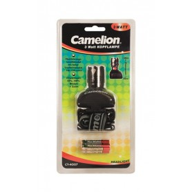 Camelion - Camelion 3W LED Headlamp 130Lm + 3x AAA batteries - Flashlights - BS346 www.NedRo.us
