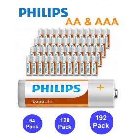 PHILIPS - Philips Power Pack - Longlife Alkaline AA + AAA - AAA formaat - BS350-CB www.NedRo.nl