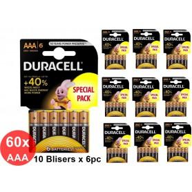 Duracell - Duracell LR03 / AAA / R03 / MN 2400 1.5V alkaline battery - Size AAA - BS353-CB www.NedRo.us