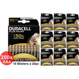 Duracell - Duracell Plus Power LR03 / AAA / R03 / MN 2400 1.5V alkaline battery - Size AAA - BS355-CB