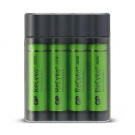 GP - GP X411 powerbank en batterijlader + 4x AA 2600mAh - Batterijladers - BS359 www.NedRo.nl