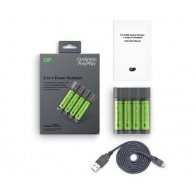 GP - GP X411 powerbank și încărcător de baterii + 4x AA 2600mAh - Încărcătoare de baterii - BS359 www.NedRo.ro