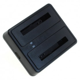 digibuddy - Dual USB charger compatible with Samsung BG900BBE - Ac charger - ON6278