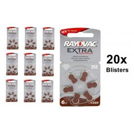 Rayovac - Rayovac Extra Advanced 312 / PR312 / PR41 baterii aparate auditive - Baterii plate - BL248-CB www.NedRo.ro
