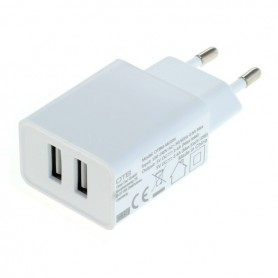 OTB - 2-Portos USB 2.4A 100-240V Multi adapter EU Plug - Ac charger - ON6279