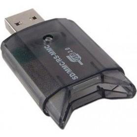 NedRo - USB Card Kaartlezer Schrijver voor MMC SD SDHC - SD en USB Memory - AL210-CB www.NedRo.nl