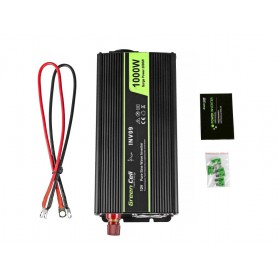 Green Cell - 2000W DC 12V to AC 230V with USB Current Inverter Converter - Pure/Full Sine Wave - Solar panels and wind turbin...