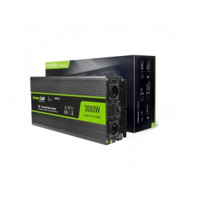 Green Cell, 6000W DC 12V la 230V cu USB Convertor Inverter curent - Pure/Full Sine Wave, Panouri solare și turbine eoliene, G...