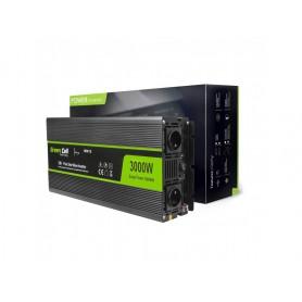 Green Cell, 6000W DC 12V naar AC 230V met USB Stroom Inverter Converter - Pure/Full Sine Wave, Zonnepanelen en Windturbines, ...