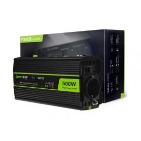 Green Cell - 1000W DC 24V naar AC 230V met USB Stroom Inverter Converter - Pure/Full Sine Wave - Zonnepanelen en Windturbines...