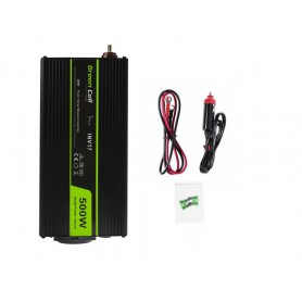 Green Cell - 1000W DC 24V to AC 230V with USB Current Inverter Converter - Pure/Full Sine Wave - Solar panels and wind turbin...
