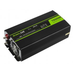 Green Cell - 2000W DC 24V to AC 230V with USB Current Inverter Converter - Pure/Full Sine Wave - Solar panels and wind turbin...