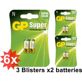 GP - GP Super LR1 / N / E90 / 910A 1.5V Alkaline Battery (Duo Pack) - Other formats - BS365-CB www.NedRo.us