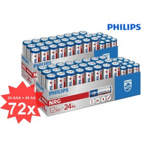 PHILIPS - Philips Power Pack - NRG Alkaline AA AAA - AA formaat - BS366-CB www.NedRo.nl