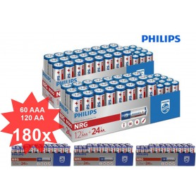 PHILIPS - Philips Power Pack - NRG Alkaline AA AAA - Size AA - BS366-CB