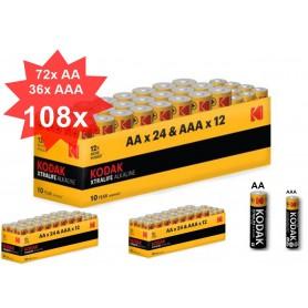Kodak - Kodak Xtralife alkaline AA AAA 1.5V Powerbox - AA formaat - BS368-CB www.NedRo.nl