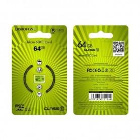 BOROFONE - BOROFONE Card de memorie TF de mare viteză micro-SD SDXC Class 10 - Memorie SD si USB - H100774-CB www.NedRo.ro