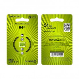 BOROFONE, BOROFONE TF high speed memory card micro-SD SDXC Class 10, SD and USB Memory, H100774-CB, EtronixCenter.com