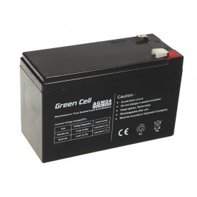 Green Cell, Green Cell 12V 7Ah (6.3mm) 7000mAh VRLA AGM Battery, Battery Lead-acid , GC038