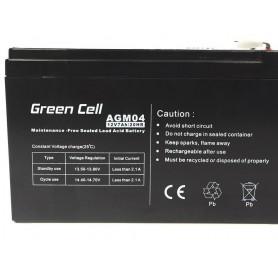 Green Cell, Green Cell 12V 7Ah (6.3mm) 7000mAh VRLA AGM accu, Loodaccu, GC038, EtronixCenter.com