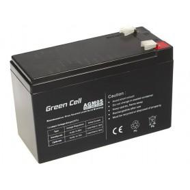 Green Cell, Green Cell 12V 7.2Ah (6.3mm) 7200mAh VRLA AGM Battery, Battery Lead-acid , GC039, EtronixCenter.com