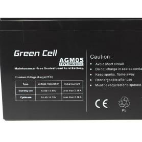 Green Cell - Green Cell 12V 7.2Ah (6.3mm) 7200mAh VRLA AGM accu - Loodaccu - GC039 www.NedRo.nl