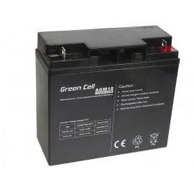 Green Cell, Green Cell 12V 20Ah (11mm) 20000mAh AGM accu, Loodaccu, GC040, EtronixCenter.com