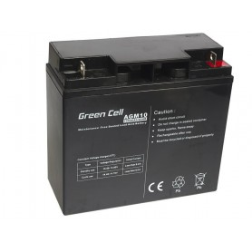 Green Cell 12V 20Ah (11mm) 20000mAh AGM VRLA Battery