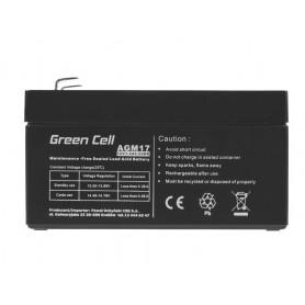 Green Cell - Green Cell 12V 1.2Ah (4.6mm) 1200mAh VRLA AGM accu - Loodaccu - GC041 www.NedRo.nl