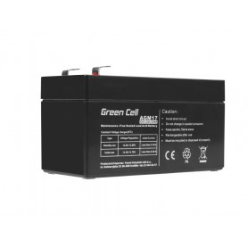 Green Cell, Green Cell 12V 1.2Ah (4.6mm) 1200mAh VRLA AGM Battery, Battery Lead-acid , GC041, EtronixCenter.com