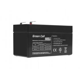 Green Cell - Green Cell 12V 1.2Ah (4.6mm) 1200mAh VRLA AGM Battery - Battery Lead-acid  - GC041 www.NedRo.us