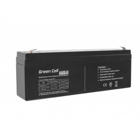 Green Cell - Green Cell 12V 2.3Ah (4.6mm) 2300mAh VRLA AGM Battery - Battery Lead-acid  - GC042 www.NedRo.us