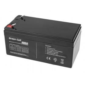 Green Cell - Green Cell 12V 3.3Ah (4.6mm) 3300mAh VRLA AGM Battery - Battery Lead-acid  - GC043 www.NedRo.us
