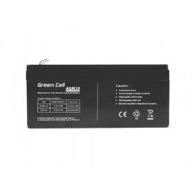 Green Cell, Green Cell 12V 3.3Ah (4.6mm) 3300mAh VRLA AGM Battery, Battery Lead-acid , GC043