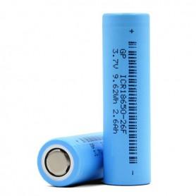 GP - GP 18650 ICR18650-26F 2600mAh 5.4A 3.7V Li-Ion - Size 18650 - BS373-CB www.NedRo.us