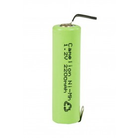 Camelion - Camelion AA R6 2200mAh with U-solder lips 1.2V NimH Rechargeable - Size AA - BS374-CB